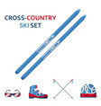 cross country skies icon collection set with vector image vector image