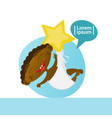 cute african american baby boy sleeping toddler vector image vector image