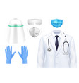 doctors protection realistic set vector image