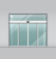 double sliding glass doors with automatic sensor vector image vector image