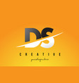 ds d s letter modern logo design with yellow vector image vector image