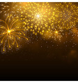 Firework gold vector image vector image