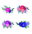 flowers decorative design elements vector image
