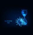 futuristic quarantine time during coronavirus vector image vector image
