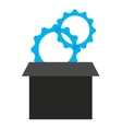gears in box isolated icon design vector image