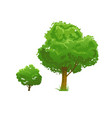 green tree set vector image