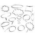 hand drawn dialog bubbles vector vector image