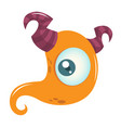 happy cartoon monster vector image vector image