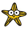 happy star cartoon icon vector image vector image