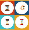 icon flat sandglass set of sand timer clock vector image