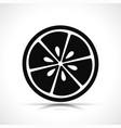 lemon slice black icon vector image