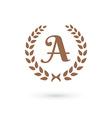 Letter A laurel wreath logo icon design template vector image vector image
