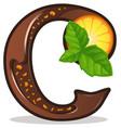 letter c candies vector image
