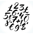 lettering numbers vector image