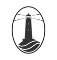 lighthouse and sea vector image vector image