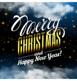 Marry Christmas and Happy New Year Magic Christmas vector image vector image