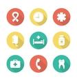 Medical flat design icons set vector image vector image