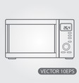 microwave icon black and white outline drawing vector image vector image