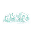 modern environmentally friendly city with vector image vector image