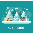 Mountains Ski Resort Landscape vector image vector image