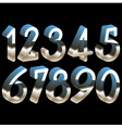 numbers chrome 3d vector image