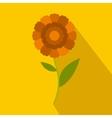 Orange flower icon flat style vector image vector image