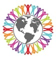 people around world vector image vector image