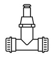 pipe connect irrigation icon outline style vector image