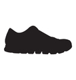 Running shoe - sneaker silhouette vector image vector image