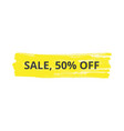 sale text inscription on yellow marker scribble vector image