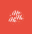 santa mustache with ho-ho-ho text vector image