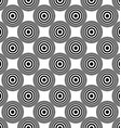 Seamless concentric circle pattern background vector image