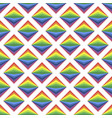 simple art background with bright rainbow rombs vector image