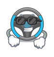super cool steering wheel in the character shape vector image vector image