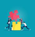 symbol teamwork and partnership concept vector image
