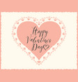 valentine card with pink heart and vector image vector image