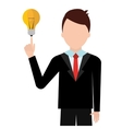 Young businessman with great ideas vector image