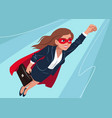 young caucasian superhero woman wearing business vector image