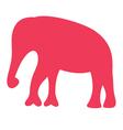 Cute beautiful safari Africa elephant silhouette vector image