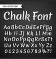 chalk white calligraphy letters writing vector image
