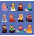 muslim religious arabic adult women in vector image