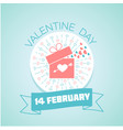 14 february valentine day vector image vector image