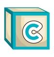 ABC block isolated flat icon vector image