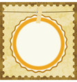 Abstract brown card vector image vector image