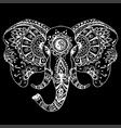 abstract elephant in indian style mehndi vector image vector image