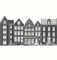 amsterdam houses urban residential buildings vector image vector image