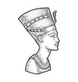 ancient egyptian nefertiti pharaoh sketch vector image vector image