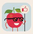 Apple Wearing Glasses vector image