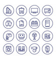 appliances and consumer electronics line icons vector image vector image