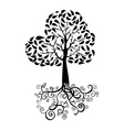 Autumn tree silhouette vector image vector image